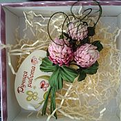 Украшения handmade. Livemaster - original item Silk flowers. Clover silk