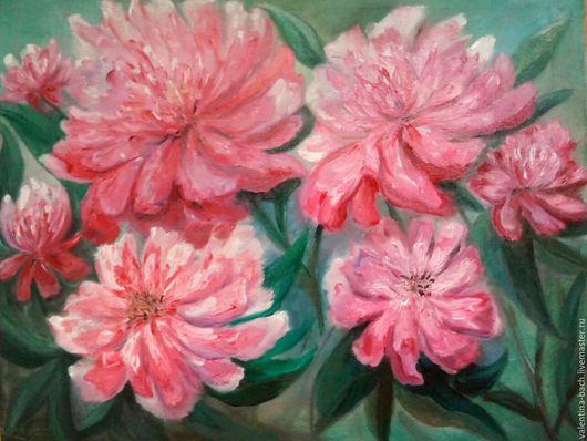 Картины цветов ручной работы. Ярмарка Мастеров - ручная работа. Купить Пионы. Handmade. Комбинированный, пионы картина, картина с цветами