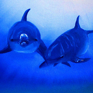Картины и панно ручной работы. Ярмарка Мастеров - ручная работа Дельфины. Handmade.
