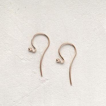Материалы для творчества ручной работы. Ярмарка Мастеров - ручная работа Швензы-крючок, позолоченное серебро 925 пробы. Handmade.