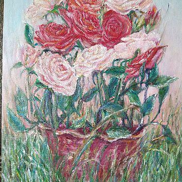Картины и панно ручной работы. Ярмарка Мастеров - ручная работа Розы на рассвете. Handmade.