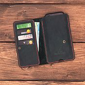 Case handmade. Livemaster - original item Wallet case for iPhone Stockholm. Handmade.