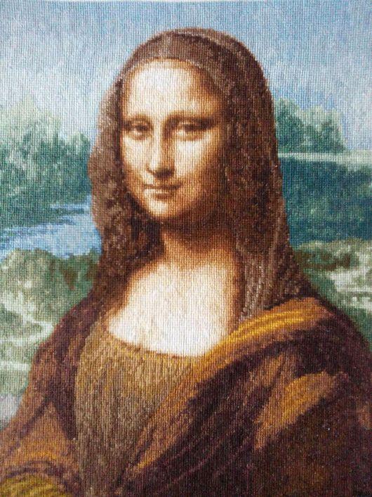 Люди, ручной работы. Ярмарка Мастеров - ручная работа. Купить Джоконда, Мона Лиза. Handmade. Вышивка крестом, Джоконда, мулине