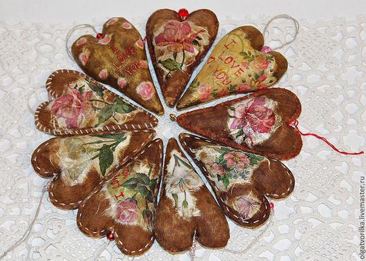 Подарки для влюбленных ручной работы. Ярмарка Мастеров - ручная работа. Купить Кофейное сердце. Handmade. Коричневый, корица, подвеска, Аппликация