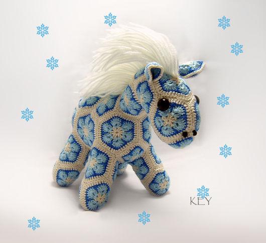 Игрушки животные, ручной работы. Ярмарка Мастеров - ручная работа. Купить Пони Снежок. Handmade. Комбинированный, лошадка, лошадь, мотивы