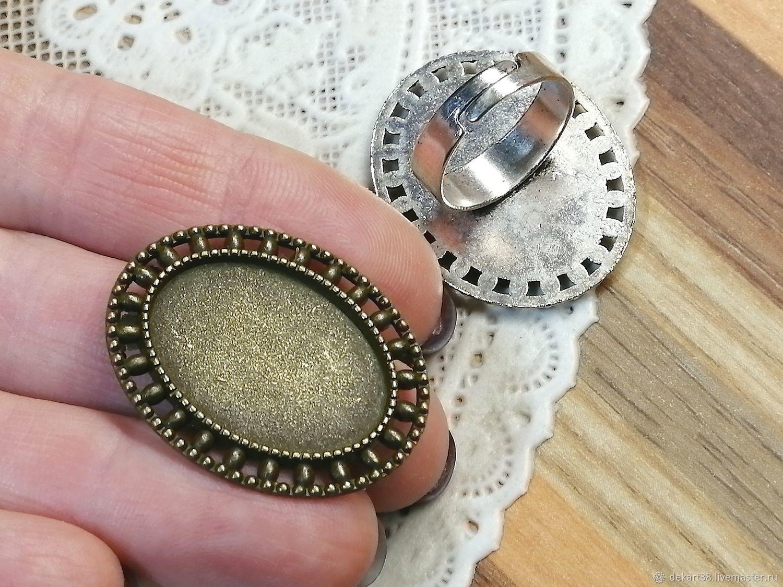 Ring base, 18h25 mm. Art. 39 approx, Blanks for jewelry, Irkutsk,  Фото №1