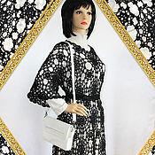 Одежда handmade. Livemaster - original item Knitted black dress tunic crochet spider Web.. Handmade.