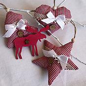 Сувениры и подарки handmade. Livemaster - original item Christmas tree decorations. Set of 4 pcs. Handmade.