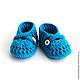 Для новорожденных, ручной работы. Ярмарка Мастеров - ручная работа. Купить Пинетки «Синие туфли». Handmade. Синий, пинетки для новорожденных