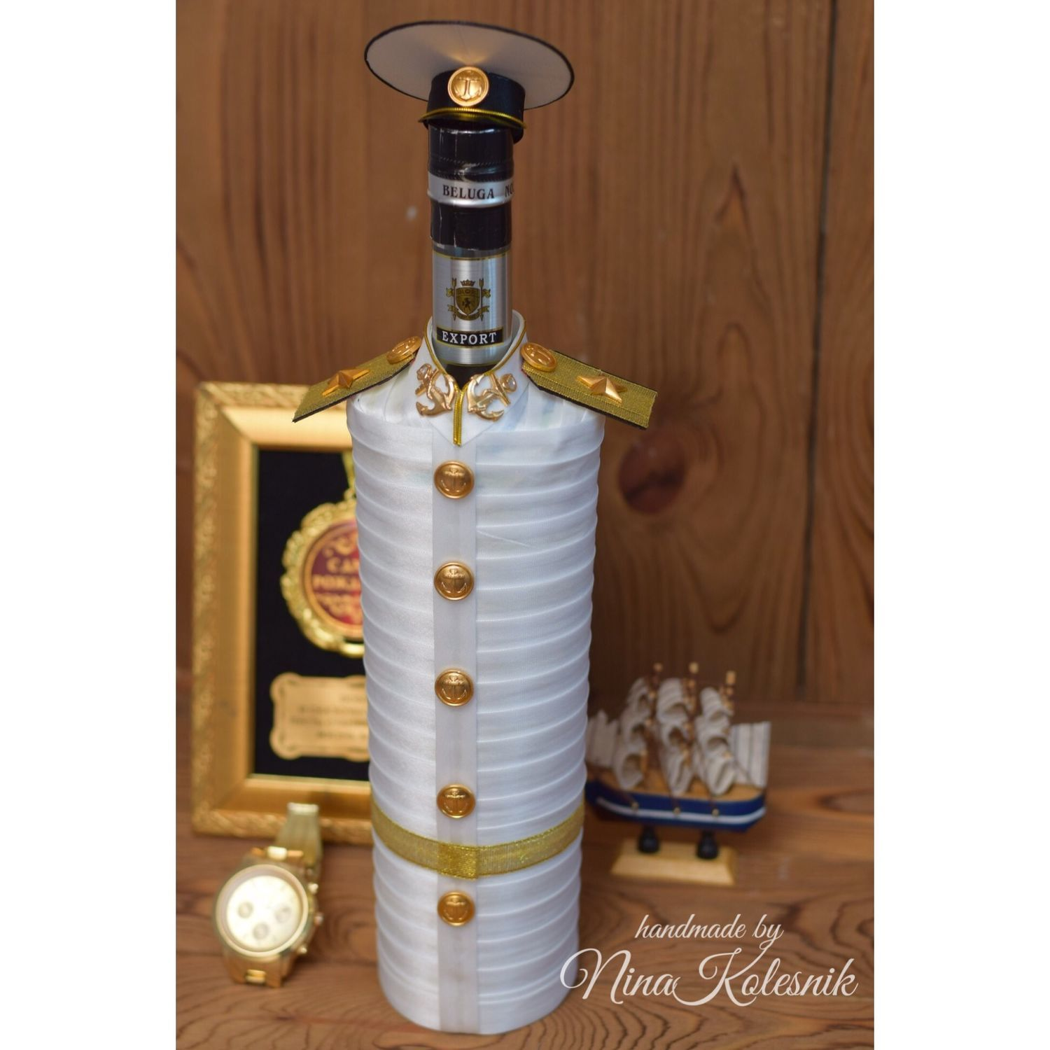 Personalized Souvenirs: Gift to the Admiral of the Navy dress jacket with shoulder straps, Name souvenirs, Moscow,  Фото №1