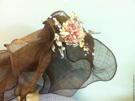 Шляпы ручной работы. Ярмарка Мастеров - ручная работа. Купить Широкополая шляпа из синамей. Handmade. Синамей, шляпа летняя, солнце