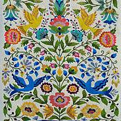 Картины и панно handmade. Livemaster - original item Paradise birds 2.Embroidery wool. Handmade.