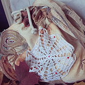 """Сумки и аксессуары ручной работы. Ярмарка Мастеров - ручная работа """" Клюква на первом снегу"""" бохо-сумка текстильная, продана. Handmade."""