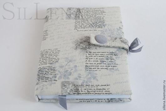 Блокноты ручной работы. Ярмарка Мастеров - ручная работа. Купить Серый. Handmade. Серый, блокнот в мягкой обложке, атласная лента