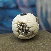 Pendants handmade. Livemaster - original item Dragon`s egg ojime bead. Handmade.