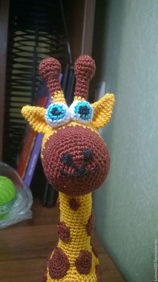 Игрушки животные, ручной работы. Ярмарка Мастеров - ручная работа. Купить Жираф. Handmade. Комбинированный, жираф, погремушка, хлопок 100%