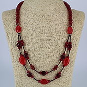 Украшения handmade. Livemaster - original item Necklace of natural carnelian stones