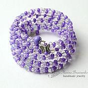 Украшения handmade. Livemaster - original item Bracelet of beads, moonstone beads and a Delicate lilac farval. Handmade.