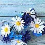 Свадебный салон handmade. Livemaster - original item Studs with wildflowers. Handmade.