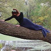 """Для дома и интерьера ручной работы. Ярмарка Мастеров - ручная работа Плед """"хвост русалки"""". Handmade."""