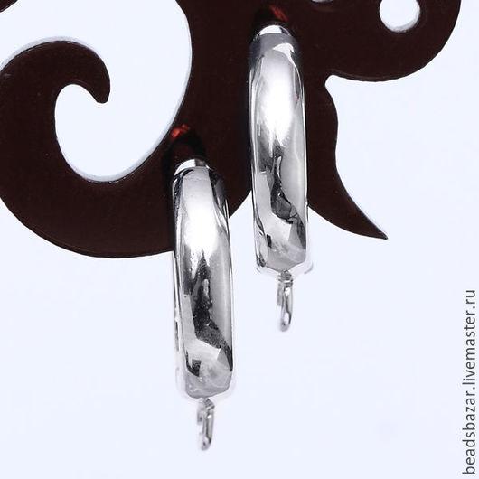 Для украшений ручной работы. Ярмарка Мастеров - ручная работа. Купить Швензы на английском замке, серебро.. Handmade. Серебряный