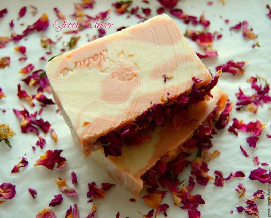 """Мыло ручной работы. Ярмарка Мастеров - ручная работа. Купить Мыло """"Роза и Шиповник"""". Handmade. Комбинированный, мыло с глиной"""