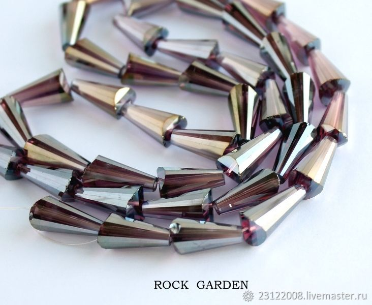 Zircon cone%#%16h7mm mirror under amethyst (113), Beads1, St. Petersburg,  Фото №1