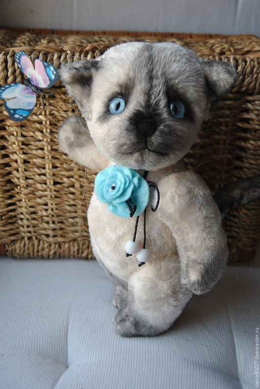 Мишки Тедди ручной работы. Ярмарка Мастеров - ручная работа. Купить тедди-котенок. Handmade. Тедди кот, сиамчик