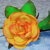 """Украшения ручной работы. Ярмарка Мастеров - ручная работа Заколки""""Цветы из фоамирана"""". Handmade."""