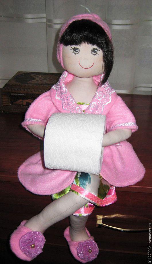 Ванная комната ручной работы. Ярмарка Мастеров - ручная работа. Купить Текстильная кукла- держатель туалетной бумаги. Handmade. Желтый