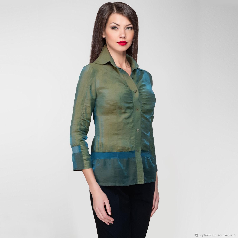 Designer blouse made of silk organza, Blouses, Chelyabinsk,  Фото №1