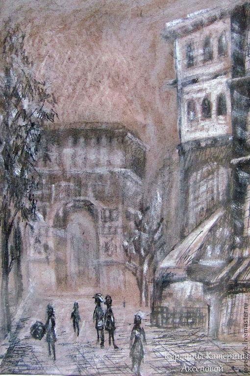 """Картина """"Париж-2"""" Катерины Аксеновой."""