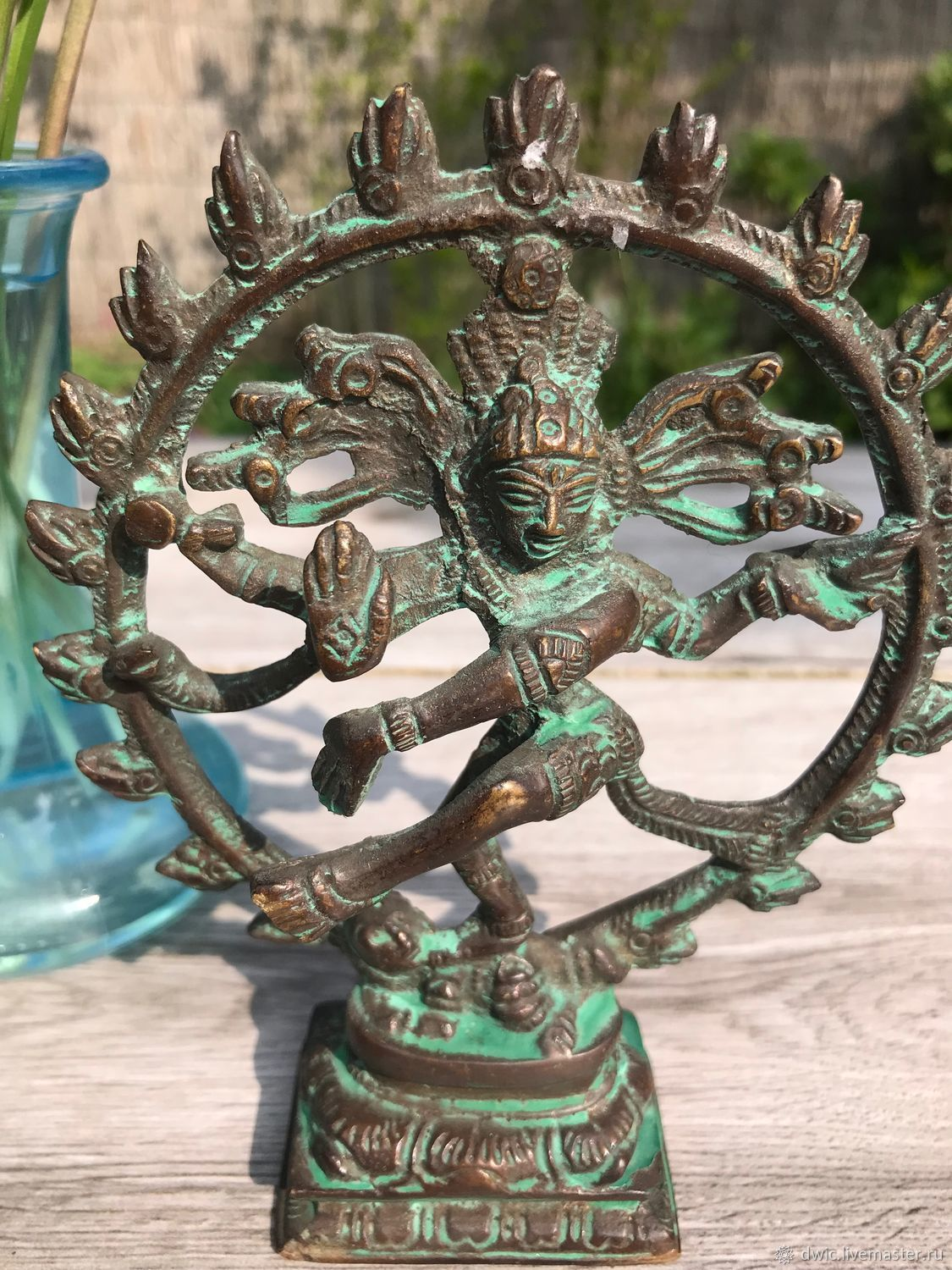 The figure of the Buddha 'Dancing Shiva', bronze, handmade, India, Vintage interior, Arnhem,  Фото №1