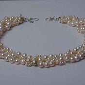 Украшения handmade. Livemaster - original item necklace of natural pearls, white pearls. Handmade.