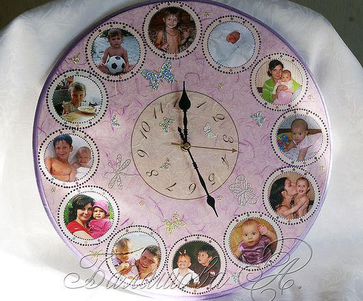 """Часы для дома ручной работы. Ярмарка Мастеров - ручная работа. Купить Часы """"Не по дням, а по часам"""". Handmade."""