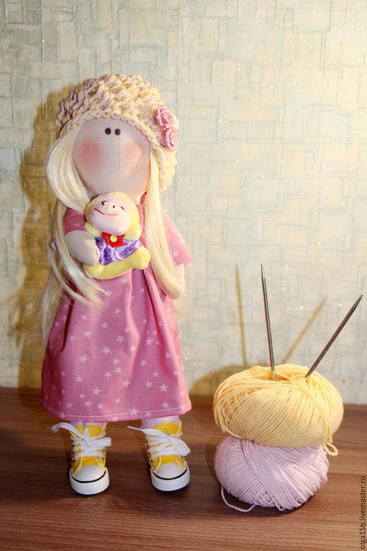 Куклы Тильды ручной работы. Ярмарка Мастеров - ручная работа. Купить Кукла ручной работы. Handmade. Бледно-розовый, кукла