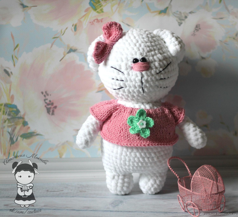 Schemes for knitting: Master class on knitting plush kitties, Knitting patterns, Khimki,  Фото №1