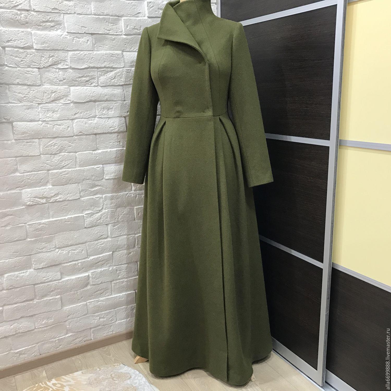 Верхняя одежда ручной работы. Ярмарка Мастеров - ручная работа. Купить  Пальто длинное платьем. 56992397483