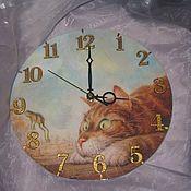 """Для дома и интерьера ручной работы. Ярмарка Мастеров - ручная работа Настенные часы """"Ух ты..."""". Handmade."""