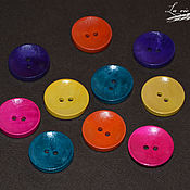 Материалы для творчества handmade. Livemaster - original item Wooden buttons colored Assorted,10 PCs.. Handmade.