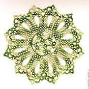 Для дома и интерьера handmade. Livemaster - original item Doily tatting heathered color green. Handmade.