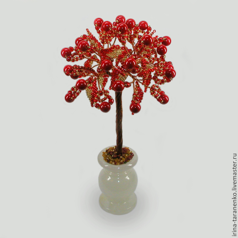 Tree coral `Happiness in love` in a vase of onyx