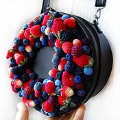 """Сумки и аксессуары ручной работы. Ярмарка Мастеров - ручная работа Кожаная сумка """"Ягодный торт"""". Handmade."""