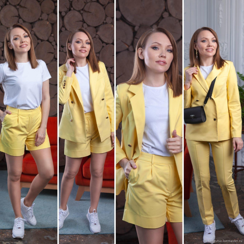 JACKET SHORTS PANTS LEMON cotton, Suits, Moscow,  Фото №1