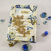 "Канцелярские товары handmade. Livemaster - original item Блокнот ""Бабочки"".. Handmade."