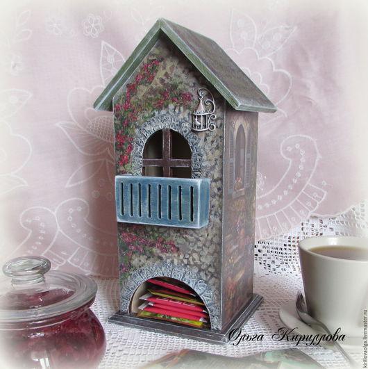 """Кухня ручной работы. Ярмарка Мастеров - ручная работа. Купить """"В уютном дворике"""" чайный домик. Handmade. Комбинированный, дерево"""