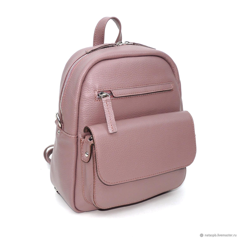 Backpack leather ladies purple Tristan. Natalia Kalinovskaya. My Livemaster. c971f5f99a099