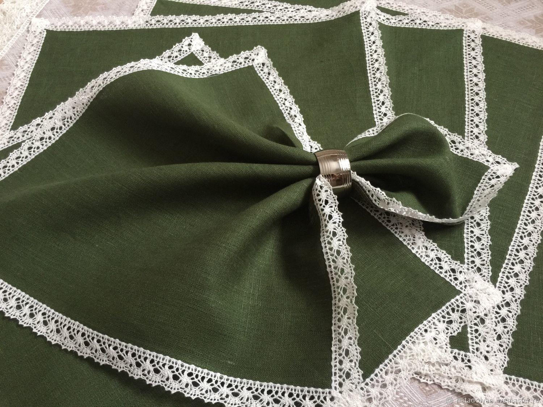 Linen napkins serving ' Spruce forest', Swipe, Ivanovo,  Фото №1
