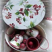 Подарки к праздникам ручной работы. Ярмарка Мастеров - ручная работа Набор колокольчиков Ягоды на снегу. Handmade.