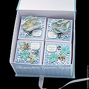 """Подарки к праздникам ручной работы. Ярмарка Мастеров - ручная работа Голубая коробочка """"Мамины сокровища"""". Handmade."""